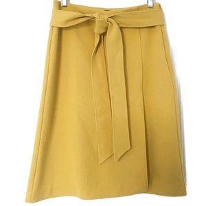 Ann Taylor Front Tie Wrap Skirt Midi